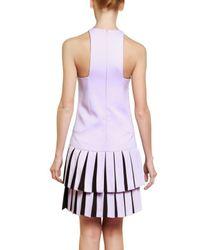 Versus Purple Pleated Cady Stretch Dress