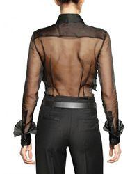 Viktor & Rolf   Black Ruffled Front Organza Shirt   Lyst
