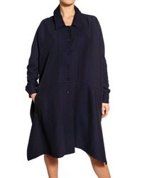 Vionnet | Blue Silk Viscose Crepe Jersey A-line Coat | Lyst