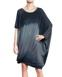Vivienne Westwood Anglomania Gray Faded Oversized Jersey Tee Dress