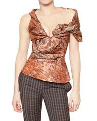 Vivienne Westwood Brown Spotted Taffeta Bustier Top