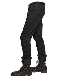 Ann Demeulemeester - Black Reinforced Cotton Trousers for Men - Lyst
