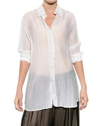 Ann Demeulemeester | White Cotton Voile Shirt | Lyst