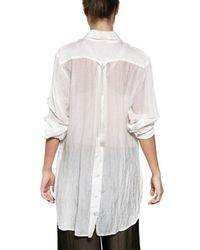 Ann Demeulemeester - White Cotton Voile Shirt - Lyst