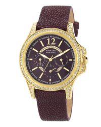 Badgley Mischka   Purple Stingray Leather Strap Watch   Lyst