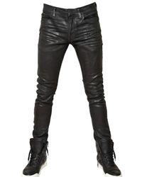 Balmain - Black 17cm Waxed Denim Jeans for Men - Lyst