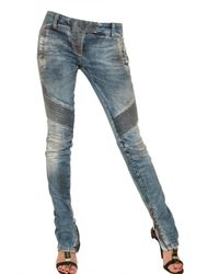 Balmain | Blue Embellished Jean | Lyst