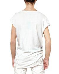 Balmain   Blue Eagle Printed Jersey T-shirt for Men   Lyst
