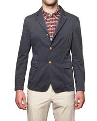 Band of Outsiders | Blue Cotton Gabardine Jacket for Men | Lyst