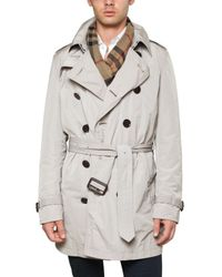 Burberry Brit - Natural Nylon Double Breasted Pack Away Trench C for Men - Lyst