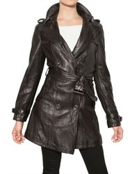 Burberry Brit | Black Iverdown Nappa Leather Trench Coat | Lyst