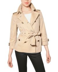 Burberry Brit | Natural Bromshire Hm Cotton Gabardine Jacket | Lyst