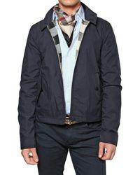 Burberry Brit | Blue Reversible Nylon & Cotton Sport Jacket for Men | Lyst