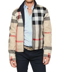 Burberry Brit - Blue Reversible Nylon & Cotton Sport Jacket for Men - Lyst