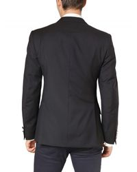 Burberry - Blue Wool Metal Button Blazer Jacket for Men - Lyst