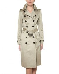 Burberry Prorsum | Natural Cotton-sateen Trench Coat | Lyst