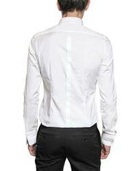 Burberry Prorsum - White Pleated Plastron Poplin Tuxedo Shirt for Men - Lyst