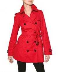 Burberry | Red Mottram Cotton Gabardine Trench Coat | Lyst