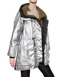 Christopher Raeburn | Metallic Nylon and Quilted Parka Coat | Lyst