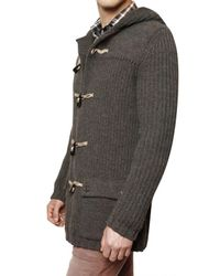 Closed | Gray Knit Wool Montgomery Sweater for Men | Lyst