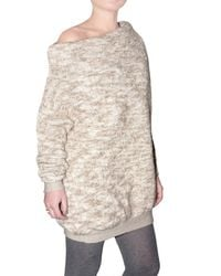 Dagmar - Natural Heavy Wool Knit Off The Shoulder Sweater - Lyst