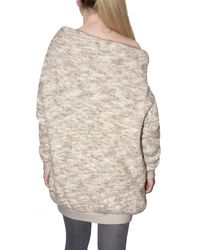 Dagmar | Natural Heavy Wool Knit Off The Shoulder Sweater | Lyst