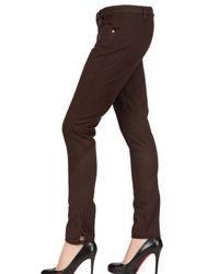 Daks - Brown Stretch Cotton Gabardine Trousers - Lyst