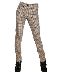 Daks | Natural Checked Stretch-cotton Pants | Lyst