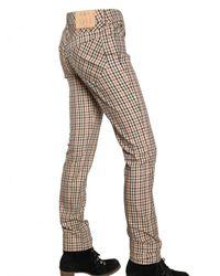 Daks Multicolor Checked Stretch-cotton Pants