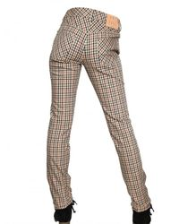 Daks | Multicolor Checked Stretch-cotton Pants | Lyst