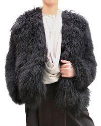 Damir Doma | Black Mongolian Fur Coat | Lyst