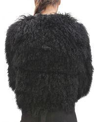 Damir Doma - Black Mongolian Fur Coat - Lyst