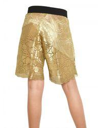 Damir Doma - Metallic Lurex Lace Shorts - Lyst