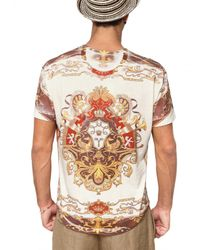 Dolce & Gabbana - Multicolor Cotton Jersey Marine Print T-shirt for Men - Lyst