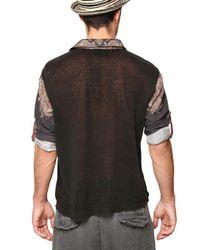 Dolce & Gabbana - Black Silk & Linen Blouse Shirt for Men - Lyst