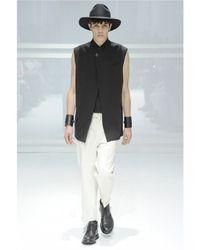 Dior Homme   Black Double Wool Toile Buckle Vest for Men   Lyst