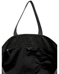 Dior Homme | Black Logo Jacquard Waxed Canvas Tote Bag for Men | Lyst