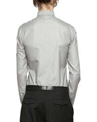 Dior Homme - Black Selvedge Piping Microstriped Poplin Shirt for Men - Lyst