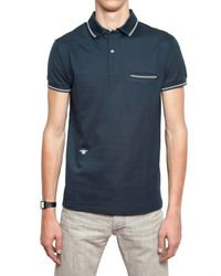 Dior Homme - Blue Bee Embroidered Piquet Cotton Polo for Men - Lyst