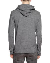 Dior Homme Gray Embroidery Bee Stretch Jersey Sweater for men
