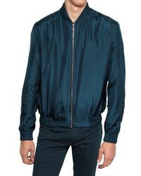 Dior Homme | Blue Waterproof Silk Taffeta Sport Jacket for Men | Lyst