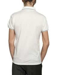 Dior Homme | White Bee Embroidered Piquet Cotton Polo for Men | Lyst