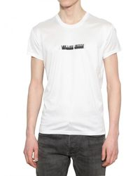 Dior Homme White Stitched Inner Beauty Jersey T-shirt for men
