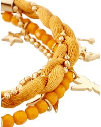 Disney Couture - Metallic Gold Friendship Bracelet - Lyst
