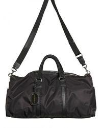 Dolce & Gabbana | Black Leather Profile Nylon Bag for Men | Lyst