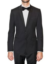 Dolce & Gabbana - Black Stretch Wool Twill Tuxedo Suit for Men - Lyst