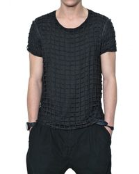 Dolce & Gabbana | Black Double Net T-shirt for Men | Lyst