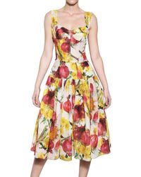 Dolce & Gabbana | Multicolor Onion Print Organza Creponne Dress | Lyst