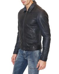 Dolce & Gabbana | Blue Washed Soft Nappa Leather Jacket for Men | Lyst