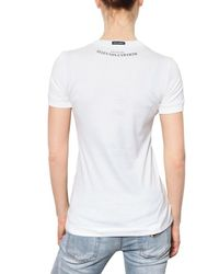 Dolce & Gabbana - White Bellucci Print Cotton Jersey T-shirt - Lyst